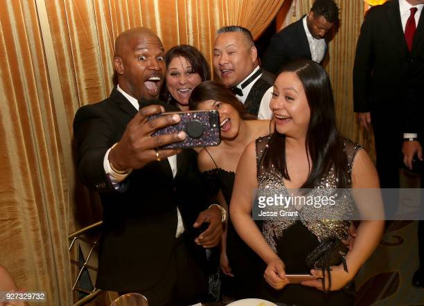 Jamie Foxx attends Byron Allen's Oscar Gala Viewing Party to Support The Children's Hospital Los Angeles at the Beverly Wilshire Four Seasons Hotel...