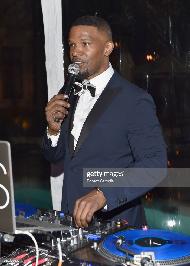 Jamie Foxx attends Learning Lab Ventures Gala in Partnership with NET-A-PORTER on January 25, 2018 in Beverly Hills, California.