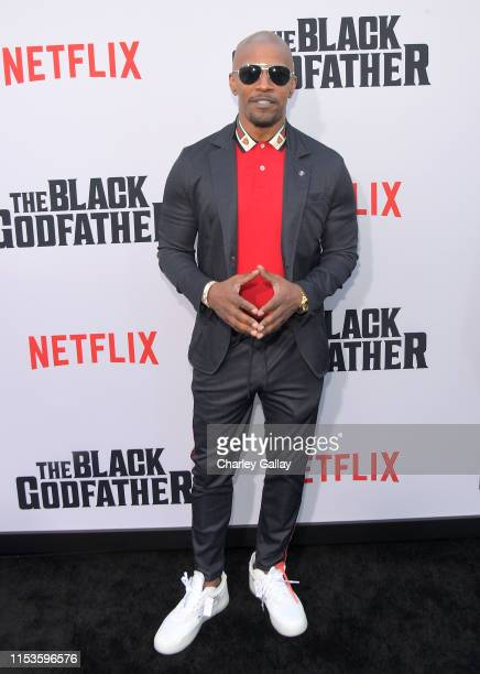 "Jamie Foxx attends Netflix world premiere of ""THE BLACK GODFATHER at the Paramount Theater on June 03, 2019 in Los Angeles, California."