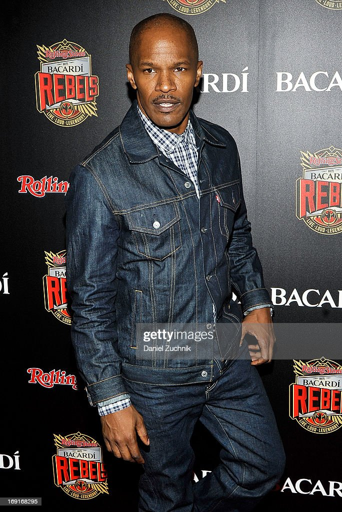 Jamie Foxx attends the 2013 Bacardi Rebels Event Hosted By Rolling Stone at Roseland Ballroom on May 20, 2013 in New York City.