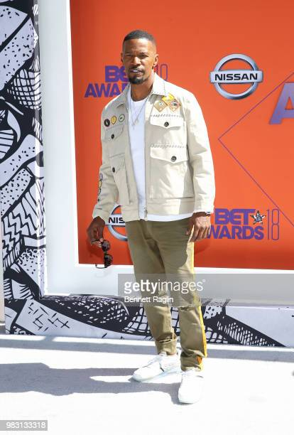 Jamie Foxx attends the 2018 BET Awards at Microsoft Theater on June 24 2018 in Los Angeles California