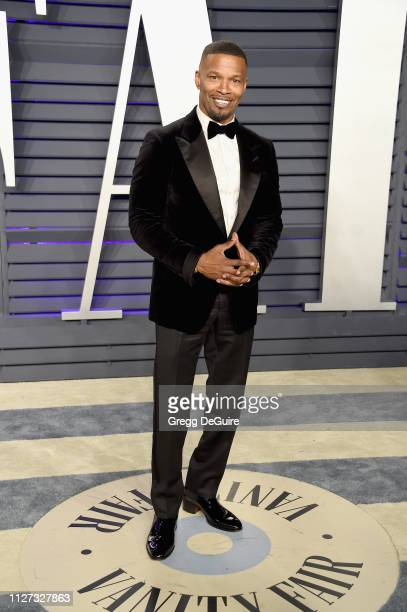 Jamie Foxx attends the 2019 Vanity Fair Oscar Party hosted by Radhika Jones at Wallis Annenberg Center for the Performing Arts on February 24, 2019...