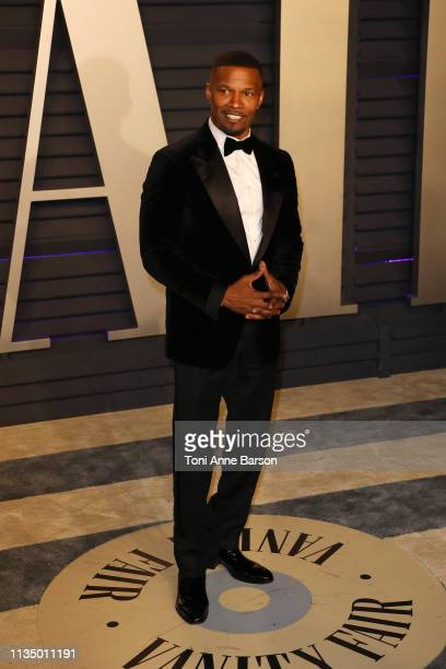 Jamie Foxx attends the 2019 Vanity Fair Oscar Party hosted by Radhika Jones at Wallis Annenberg Center for the Performing Arts on February 24 2019 in...