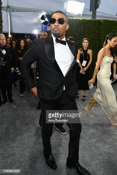 Jamie Foxx attends the 26th Annual Screen Actors Guild Awards at The Shrine Auditorium on January 19, 2020 in Los Angeles, California.