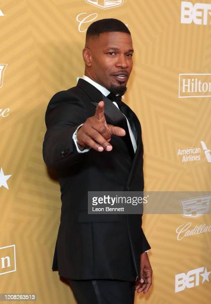 Jamie Foxx attends the American Black Film Festival Honors Awards Ceremony at The Beverly Hilton Hotel on February 23, 2020 in Beverly Hills,...