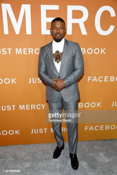 Jamie Foxx attends the LA Community Screening of Warner Bros Pictures' Just Mercy at Cinemark Baldwin Hills on January 06 2020 in Los Angeles...