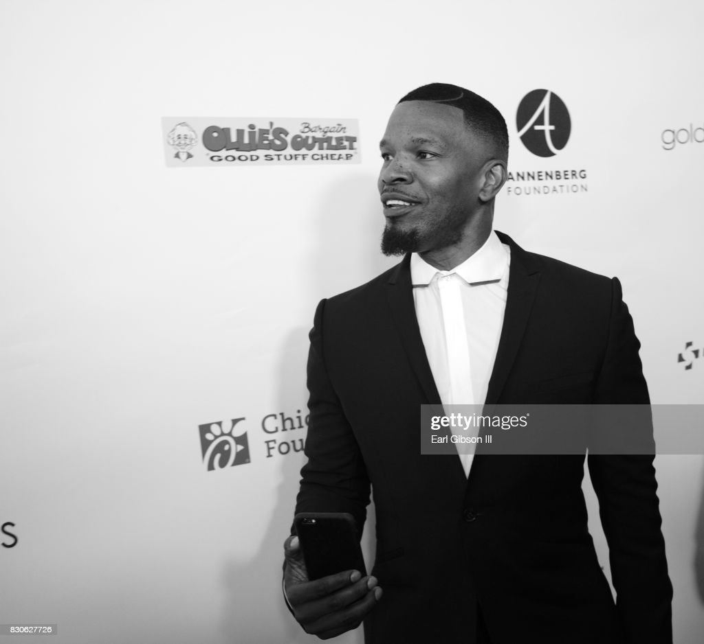 Jamie Foxx attends the Harold & Carole Pump Foundation Gala at The Beverly Hilton Hotel on August 11, 2017 in Beverly Hills, California.