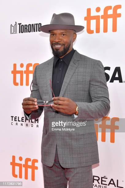 """Jamie Foxx attends the """"Just Mercy"""" premiere during the 2019 Toronto International Film Festival at Roy Thomson Hall on September 06, 2019 in..."""