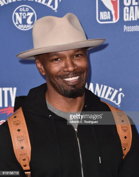 Jamie Foxx attends the NBA AllStar Celebrity Game 2018 at Verizon Up Arena at LACC on February 16 2018 in Los Angeles California