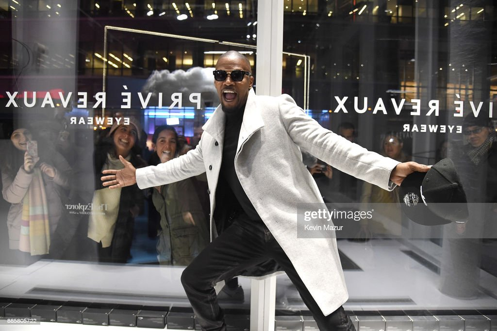 Jamie Foxx attends the Prive Reveaux eyewear flagship launch on December 4, 2017 in New York City.