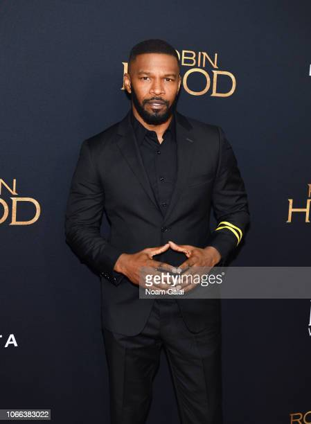 "Jamie Foxx attends the ""Robin Hood"" New York screening at AMC Lincoln Square Theater on November 11, 2018 in New York City."