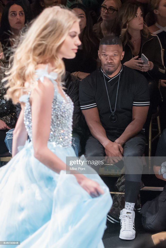 Jamie Foxx attends the Sherri Hill fashion show at Gotham Hall on September 12, 2017 in New York City.