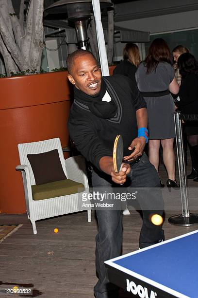 Jamie Foxx attends the SPiN NYC PreOscar Party at Mondrian LA's SKYBAR on March 4 2010 in West Hollywood California