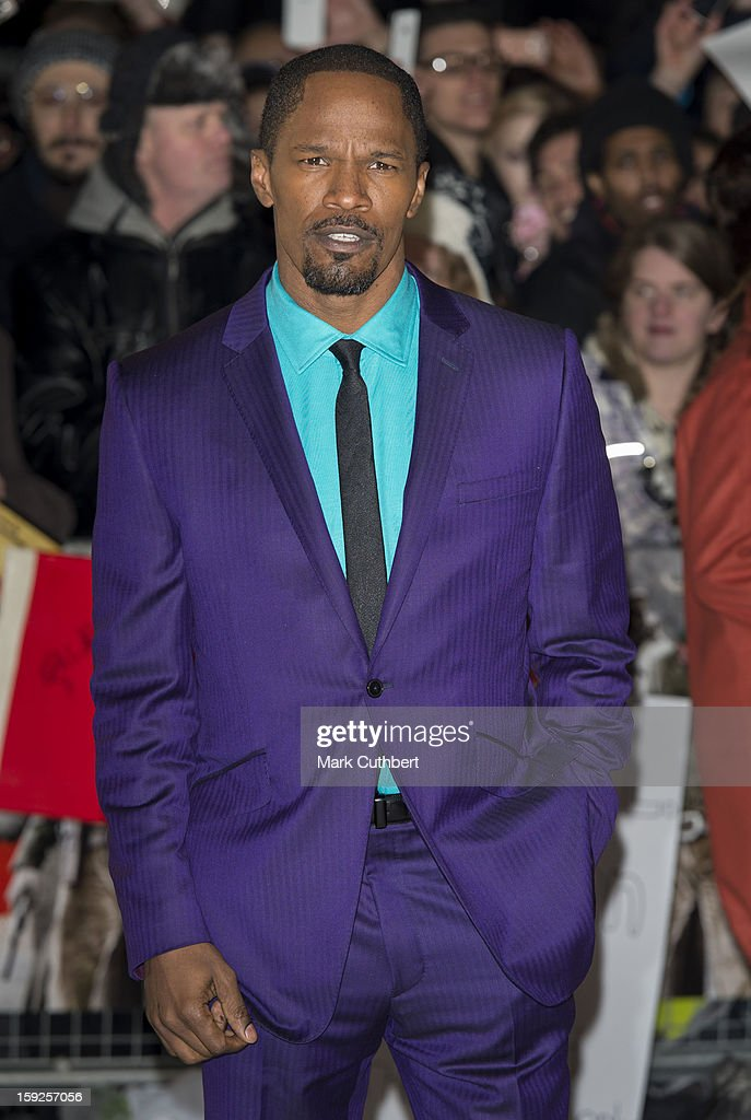Jamie Foxx attends the UK premiere of 'Django Unchained' at Empire Leicester Square on January 10, 2013 in London, England.