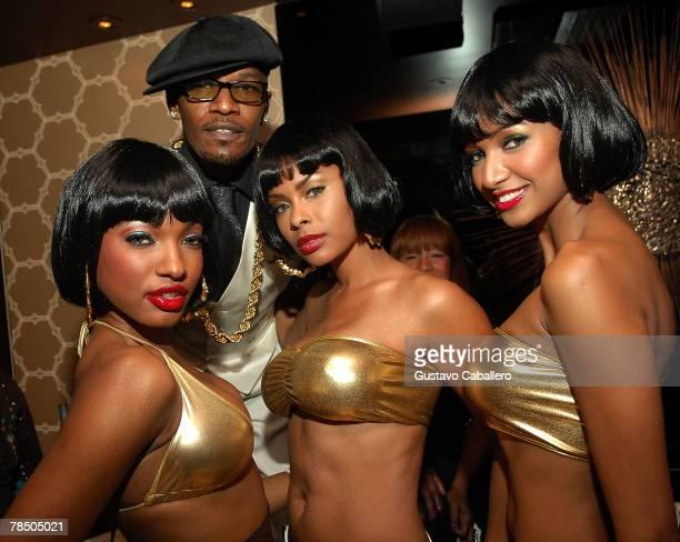 Jamie Foxx celebrates his 40th birthday hosted by Belvedere Vodka at The Florida Room at the Delano Hotel on December 15 2007 in Miami Beach Florida