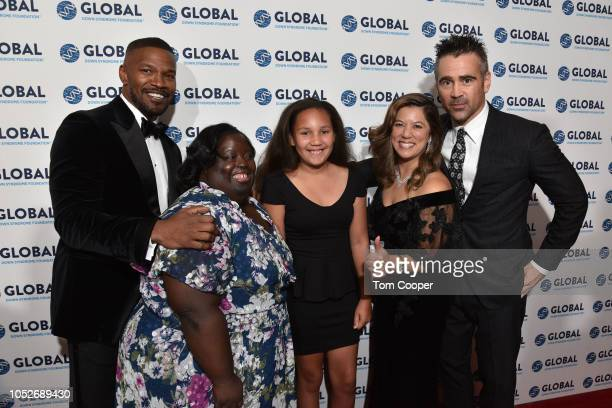 Jamie Foxx DeOndra Dixon Annalise Foxx Michelle Sie Whitten Colin Farrell at the Global Down Syndrome Foundation 10th Anniversary BBBY fashion show...