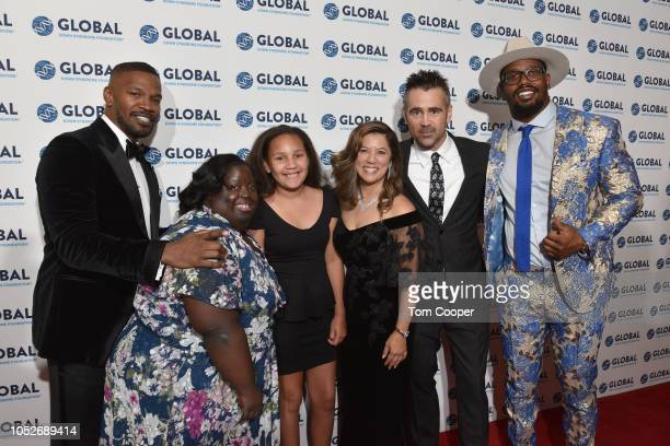 Jamie Foxx DeOndra Dixon Annalise Foxx Michelle Sie Whitten Colin Farrell and Von Miller at the Global Down Syndrome Foundation 10th Anniversary BBBY...