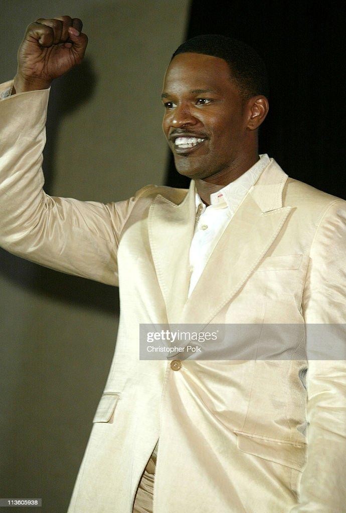Jamie Foxx during 2003 ESPY Awards - Press Room at Kodak Theatre in Hollywood, California, United States.