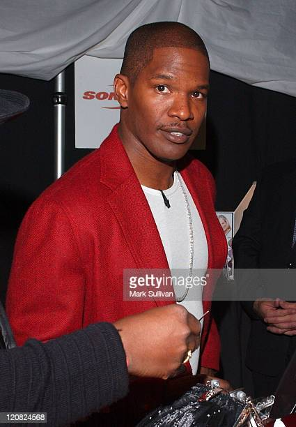 Jamie Foxx during Backstage Creations 2004 Home For The Holidays CBS Special The Talent Retreat at Ren Mar Studios in Hollywood California United...