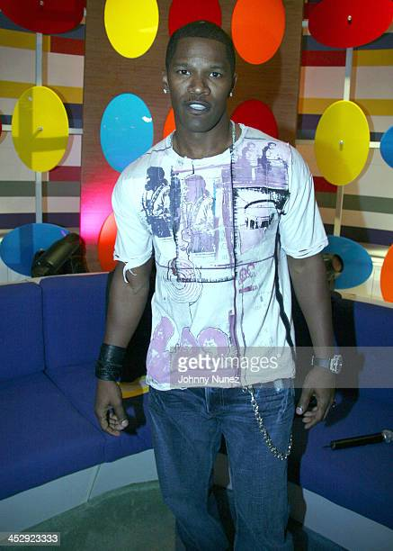 Jamie Foxx during BET with Jamie Foxx, Pharrell and Lloyd Banks - July 24, 2006 at BET in New York City, New York, United States.