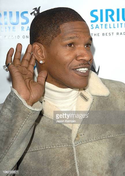 Jamie Foxx during Jamie Foxx Launches The Foxxhole Channel January 23 2007 at Sirius Satellite Radio Station in New York City New York United States