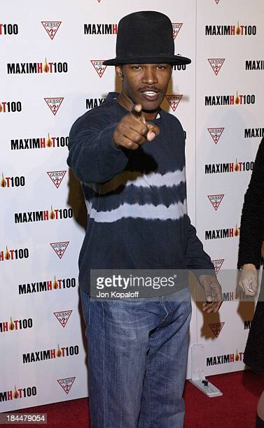 Jamie Foxx during Maxim Hot 100 Party Arrivals at Yamashiro in Hollywood California United States