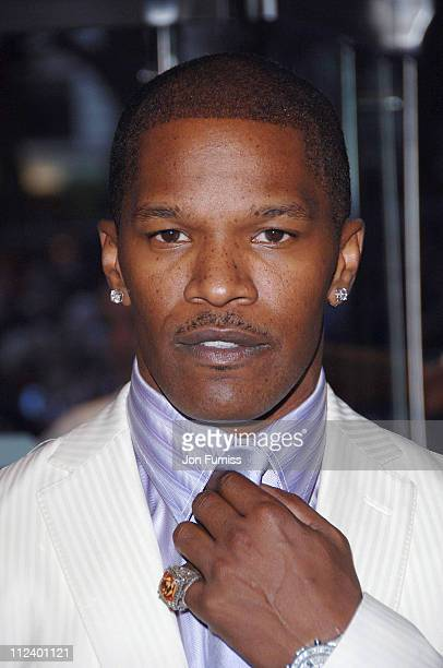 Jamie Foxx during 'Miami Vice' London Premiere Inside Arrivals at Odeon Leicester Square in London Great Britain