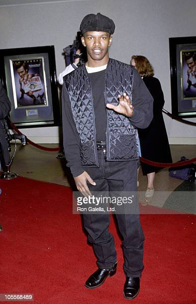 """Jamie Foxx during Premiere of """"Ace Ventura: Pet Detective"""" at Mann's Bruin Theater in Westwood, California, United States."""