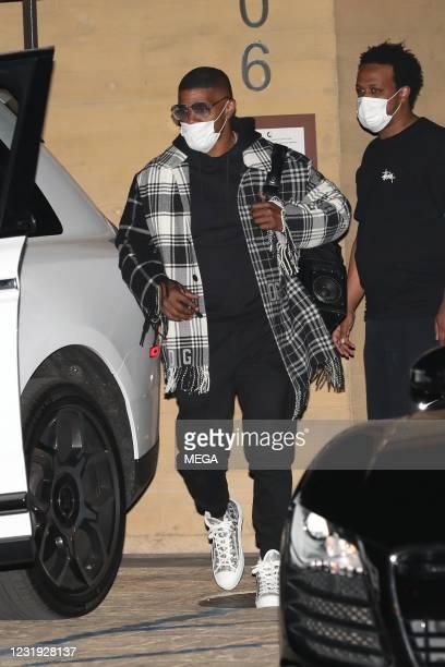 Jamie Foxx is seen at Nobu on March 24, 2021 in Malibu, California.