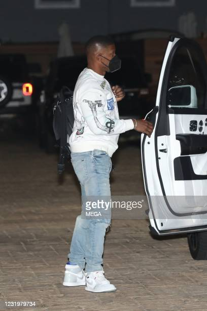 Jamie Foxx is seen at Nobu on March 27, 2021 in Malibu, California.