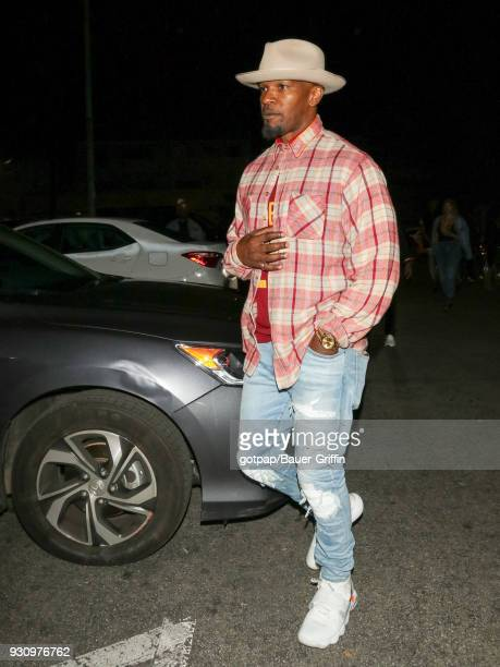 Jamie Foxx is seen on March 12 2018 in Los Angeles California