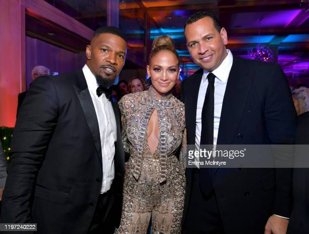 Jamie Foxx Jennifer Lopez and Alex Rodriguez attend the After Party for the 31st Annual Palm Springs International Film Festival Film Awards Gala at...