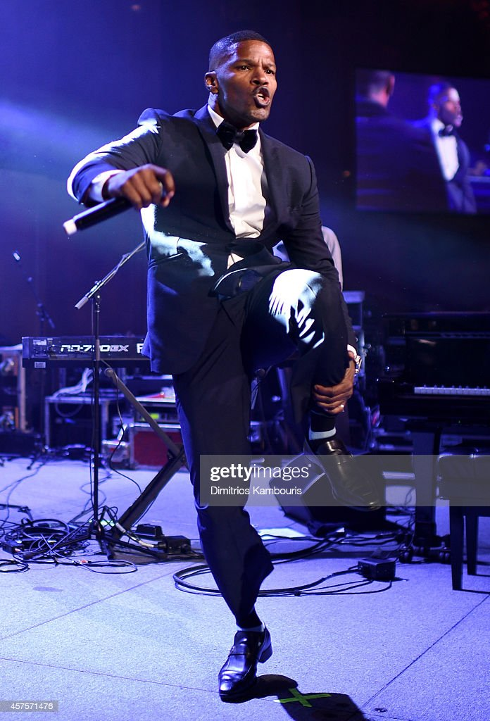 Jamie Foxx performs onstage at Angel Ball 2014 hosted by Gabrielle's Angel Foundation at Cipriani Wall Street on October 20, 2014 in New York City.