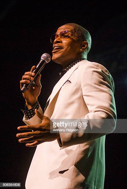 Jamie Foxx performs onstage at the Rose Garden in Portland Oregon USA on 22nd February 2007