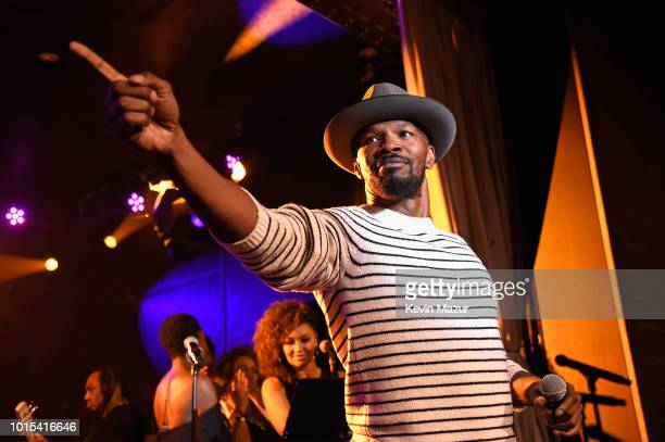 Jamie Foxx performs onstage during Apollo in the Hamptons 2018 Hosted by Ronald O Perelman at The Creeks on August 11 2018 in East Hampton New York