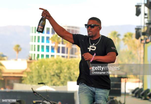 Jamie Foxx performs onstage during the 2018 Coachella Valley Music And Arts Festival at the Empire Polo Field on April 21 2018 in Indio California
