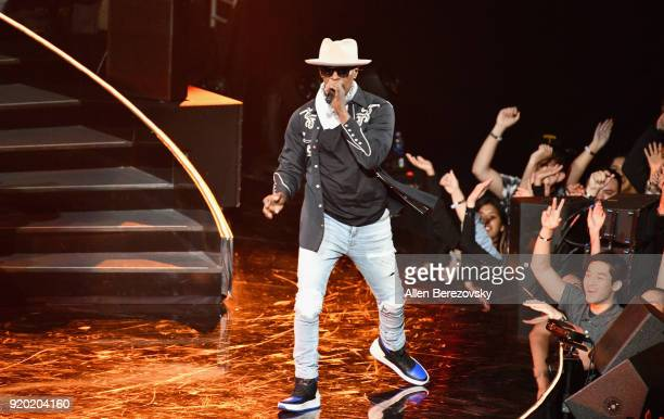 Jamie Foxx performs onstage during the NBA AllStar Game 2018 at Staples Center on February 18 2018 in Los Angeles California