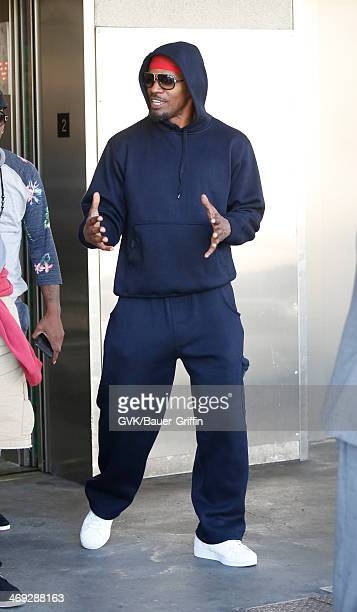 Jamie Foxx seen at LAX airport on February 13 2014 in Los Angeles California