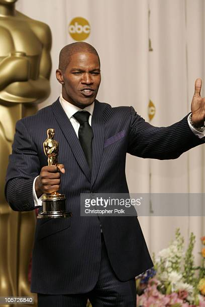 """Jamie Foxx, winner Best Actor in a Leading Role for """"Ray"""""""