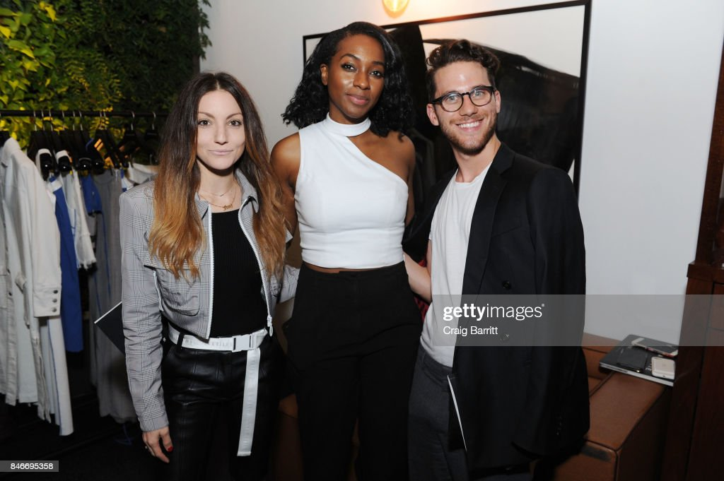 Jamie Frankel, Alexis Bennett and Connor Chiders attend the Whyte Studio NYFW Launch Dinner hosted by Bianca Whyte and Jamie Frankel at Hotel Hugo on September 13, 2017 in New York City.