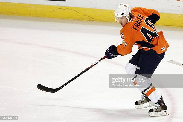 Jamie Fraser of the Bridgeport Sound Tigers skates during the first period against the Philadelphia Phantoms on January 23, 2008 at the Arena at...