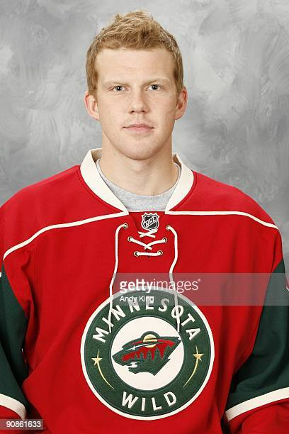 Jamie Fraser of the Minnesota Wild poses for his official headshot for the 20092010 NHL season at the Xcel Energy Center on September 12 2009 in...