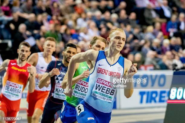 Jamie GBR competing in the 800m Men event during day ONE of the European Athletics Indoor Championships 2019 at Emirates Arena in Glasgow Scotland...