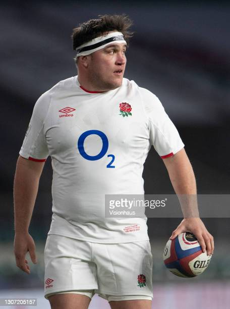 Jamie George of England during the Guinness Six Nations match between England and France at Twickenham Stadium on March 13, 2021 in London, England....