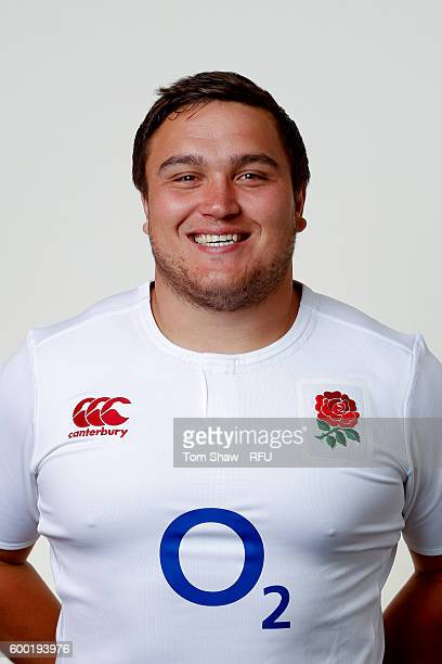 Jamie George of England poses for a portrait during the England Elite Player Squad photo call at The Lensbury on August 7 2016 in Teddington England