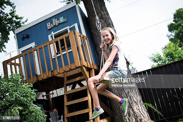 Jamie Graham has had her treehouse for around three years Her mother Jackie says that it's a good place for her to get away from the parents