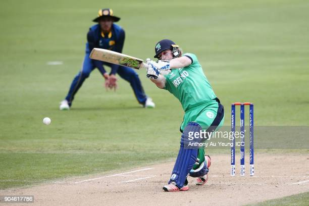 Jamie Grassi of Ireland bats during the ICC U19 Cricket World Cup match between Sri Lanka and Ireland at Cobham Oval on January 14 2018 in Whangarei...