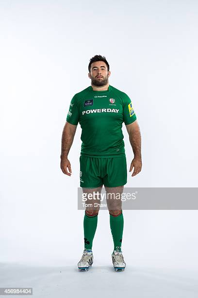 Jamie Hagan of London Irish poses for a picture during the BT PhotoShoot at Sunbury Training Ground on August 27 2014 in Sunbury England