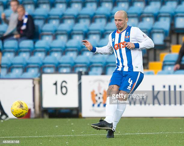 Jamie Hamill of Kilmarnock in action during the Scottish premiership match between Kilmarnock and Celtic at Rugby Park on August 12 2015 in...