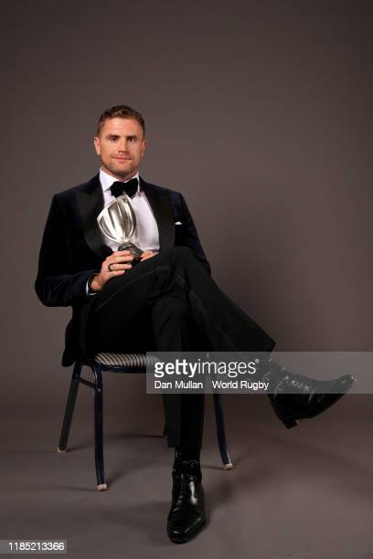 Jamie Heaslip of Ireland winner of the International Rugby Players Special Merit Award poses for a portrait during the World Rugby Awards 2019 at the...